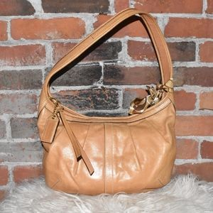 COACH Tan Leather HOBO With Scarf!